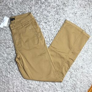 NWT jcrew tan straight leg khaki pants